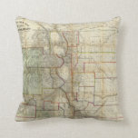 Thayer's New Map Of The State of Colorado Cushion