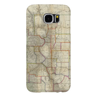 Thayer's New Map Of The State of Colorado Samsung Galaxy S6 Cases