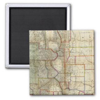Thayer's New Map Of The State of Colorado Square Magnet