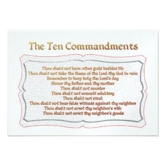 The 10 Commandments Personalized Invitations