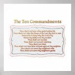 The 10 Commandments Print