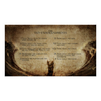 the 10 commandments wall poster