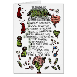 The 12 Days of Zombie Christmas Card