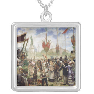 The 14th July 1880, 1882 Silver Plated Necklace