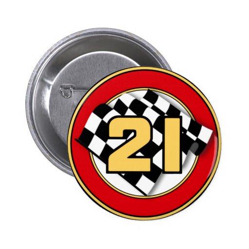 The 21 Car Pinback Button