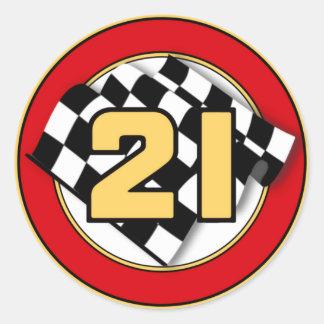 The 21 Car Round Sticker