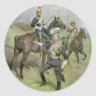 The 21st Lancers - British Army Classic Round Sticker