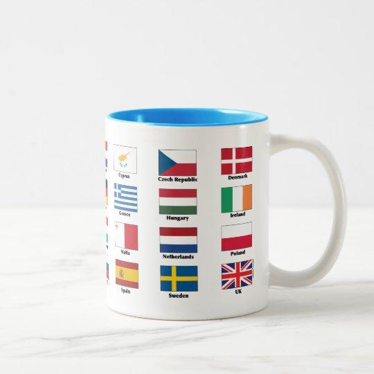 The 28 EU countries' national flags Two-Tone Coffee