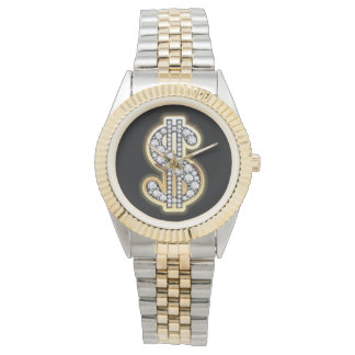 The 2-Toned Bling Watch