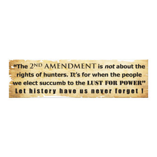 The 2nd Amendment is NOT about Hunter s Rights Stretched Canvas Prints