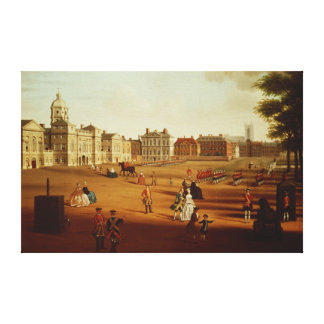 The 2nd Footguards  on Parade at Horse Guards' Gallery Wrapped Canvas