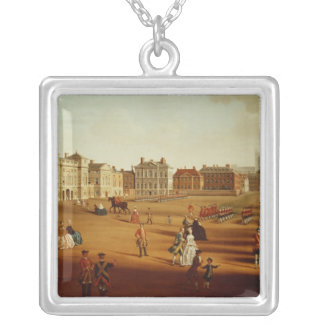 The 2nd Footguards  on Parade at Horse Guards' Square Pendant Necklace