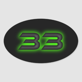 The 33 oval sticker