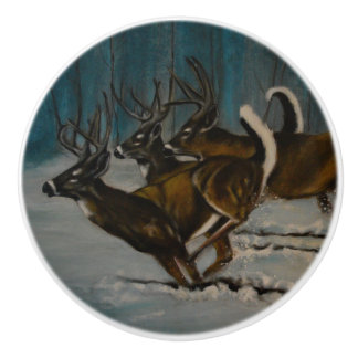 The 3 Deers Ceramic Knob