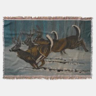 The 3 Deers Throw Blanket