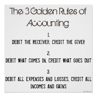 """The 3 Golden Rules of Accounting"""