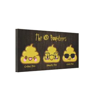 The 3 Poopiteers Canvas Prints