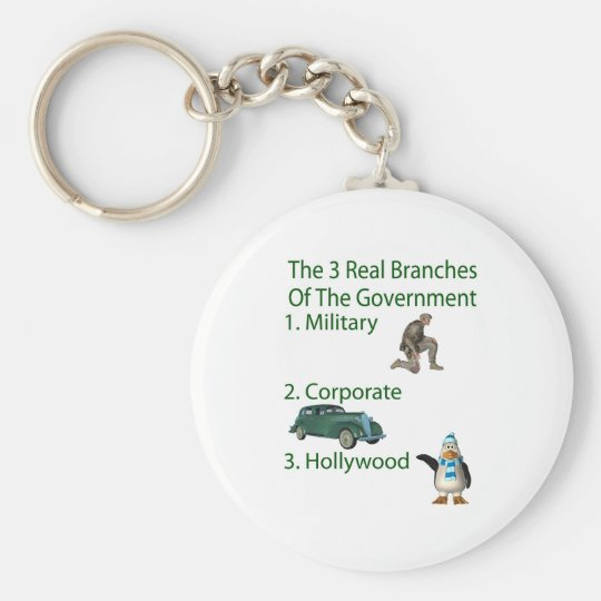 The 3 Real Branches Of The Government Basic Round Button Key Ring