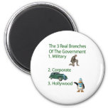The 3 Real Branches Of The Government Refrigerator Magnets