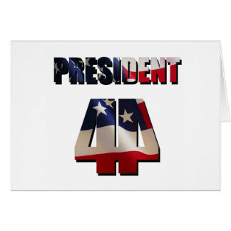 The 44th President Greeting Card