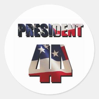 The 44th President Round Sticker