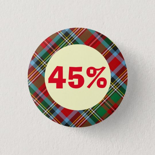 The 45 Tartan Scottish Independence Badge