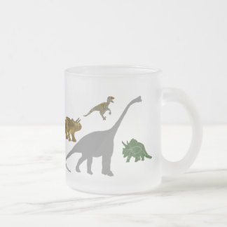 The 4 Dinos Frosted Glass Mug