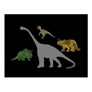 The 4 Dinos Postcard