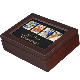 The 4 Elements-Air, Fire, Water, Earth Cards Box Memory Boxes