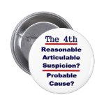 The 4th Amendment 6 Cm Round Badge