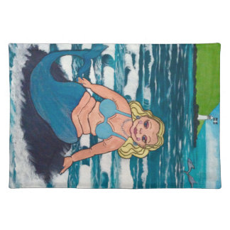 The 4th comical mermaid in a collection of six placemat