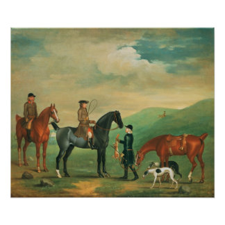 The 4th Lord Craven coursing at Ashdown Park Poster