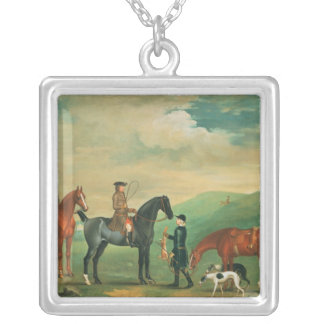The 4th Lord Craven coursing at Ashdown Park Silver Plated Necklace