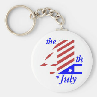 The 4th Of July Basic Round Button Key Ring