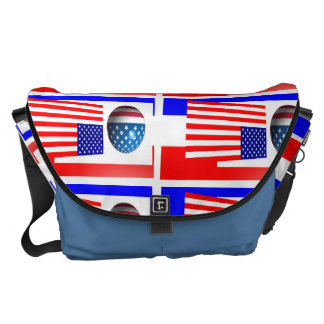 THE 4TH OF JULY LARGE MESSENGER BAG