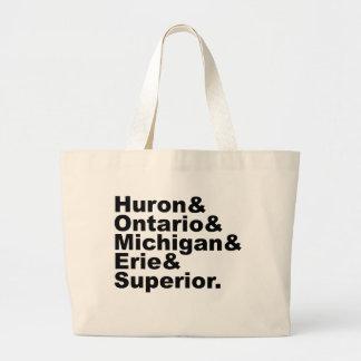 The 5 Great Lakes | Huron Ontario Michigan Erie Bags