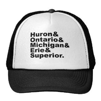 The 5 Great Lakes | Huron Ontario Michigan Erie Cap