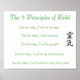 The 5 Principles of Reiki Poster