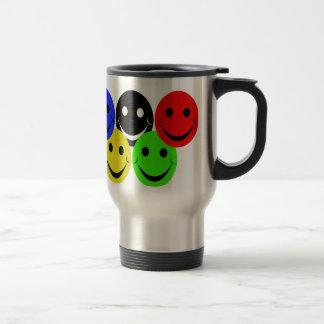 the 5 smileys stainless steel travel mug