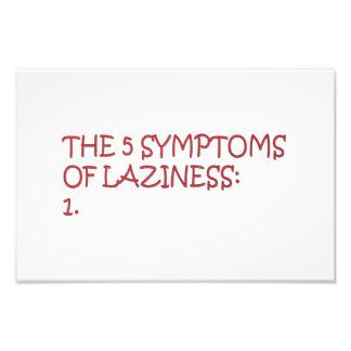 The 5 symptoms of laziness photo