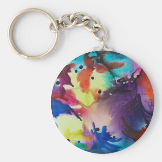 The 60's basic round button key ring