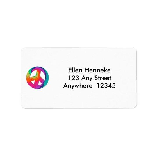 The 70s address label