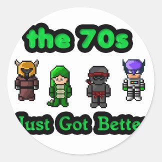 the 70s just got better round sticker