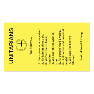 The 7 Principles Pack Of Standard Business Cards