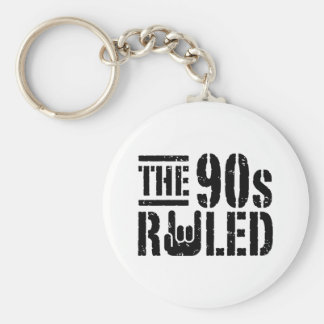 The 90s Ruled Basic Round Button Key Ring