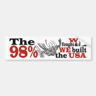 The 98% PROTEST Bumper Sticker