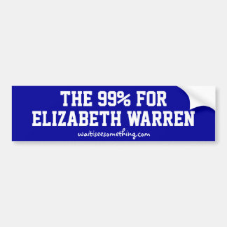 The 99% for Elizabeth Warren Bumper Sticker