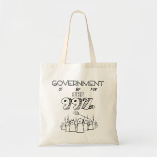 the 99% occupy wall street movement budget tote bag