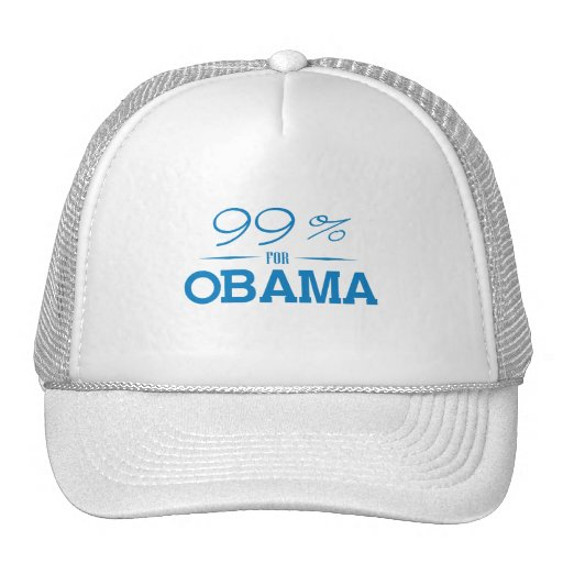 THE 99 PERCENT FOR OBAMA -.png Hats