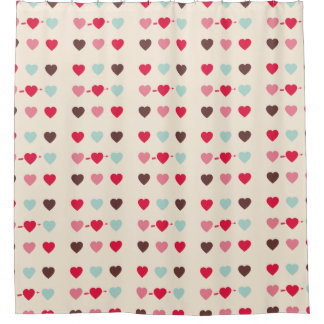 the 9 hearts shower curtain